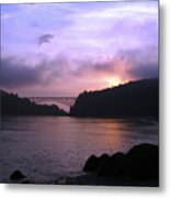 Deception Pass Sunrise Metal Print