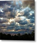 Deceptive Clouds Metal Print