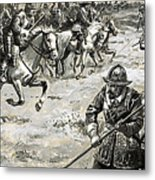 Decisive Battles  Where King Charles Lost His Crown Metal Print