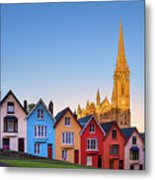Deck Of Cards And St Colman's Cathedral, Cobh, Ireland Metal Print