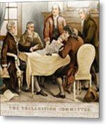 Declaration Committee 1776 Metal Print