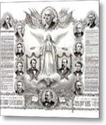 Declaration Of Independence 1884 Poster Restored Metal Print