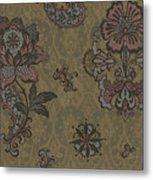 Deco Flower Brown Metal Print by JQ Licensing