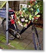 Decorated Bicycle. Amsterdam. Netherlands. Europe Metal Print