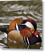 Decorated Duck Metal Print