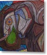 Decorated Elefant Metal Print
