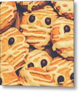 Decorated Shortbread Mummy Cookies Metal Print