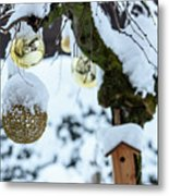 Decorations In The Snow Metal Print