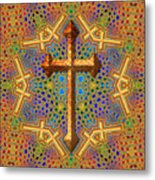 Decorative Cross Metal Print