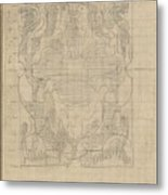 Decorative Design, Carel Adolph Lion Cachet, 1874 - 1945 U Metal Print