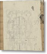 Decorative Design, Carel Adolph Lion Cachet, 1874 - 1945 W Metal Print
