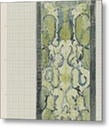 Decorative Design In Green And Blue, Carel Adolph Lion Cachet, 1874 - 1945 Metal Print