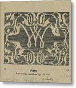 Decorative Design In National Colors, Carel Adolph Lion Cachet, 1874 - 1945 Metal Print