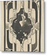 Decorative Design With Four Coats Of Arms, Carel Adolph Lion Cachet, 1874 - 1945 Metal Print