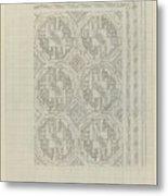 Decorative Design With Geometric Motif, Carel Adolph Lion Cachet, 1874 - 1945 Metal Print