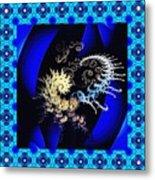 Decorative Fractal Tile 3 Metal Print