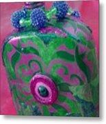 Decorative Pink Bottle Metal Print