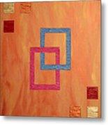 Decorative Squares Metal Print