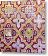 Decorative Tiles Islamic Motif  Metal Print