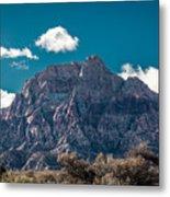 Deep Blue Sky Canyon Metal Print