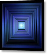 Deep Blue Solstice Metal Print