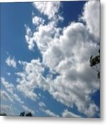 Deep Blue With Lovely Clouds Metal Print
