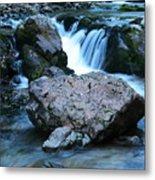 Deep Creek Flowing Between The Rocks Metal Print