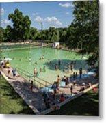 Deep Eddy Pool Is A Family Friendly, Family Fun, Public Swimming Pool In Austin, Texas Metal Print