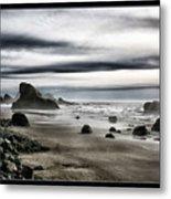 Deep Evening At The Beach Metal Print