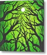 Deep Green Forest Metal Print
