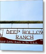 Deep Hollow Ranch Metal Print