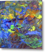 Deep Space Abstract Art Metal Print