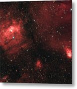 Deep Space Bubble Nebula Ngc 7635 In Constellation Cassiopeia Metal Print