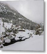 Deep Winter River Metal Print