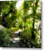Deeper Into The Greenwood Metal Print