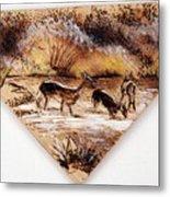 Deer Crossing Two Metal Print