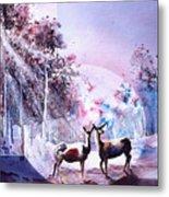 Deer Enchantment Metal Print