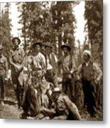 Deer Hunters  With Rifles Circa 1917 Metal Print