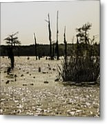 Deer Point Lake At Dusk Metal Print