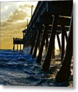 Deerfield Beach Pier At Sunrise Metal Print