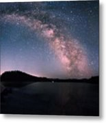 Deerfield Lake Milky Way Metal Print