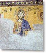 Deesis Mosaic Of Jesus Christ Metal Print