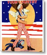 Defend Your Country Enlist Now  Metal Print
