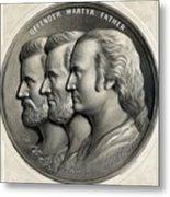 Grant Lincoln and Washington - Defender Martyr Father Metal Print