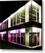 Defiance College Library Night Time Metal Print