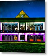 Defiance College Library Night View Metal Print