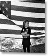 Defiant Girl Desert Storm Troops Welcome Home Celebration Ft. Lowell Tucson Arizona 1991 Metal Print