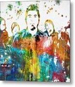 Deftones Paint Splatter Metal Print