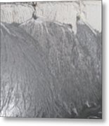 Degraded Landscape Minerals Mine In South Of Poland.  Metal Print