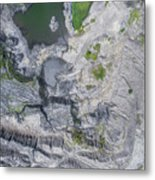 Degraded Landscape Old Coal Mine In South Of Poland. Metal Print